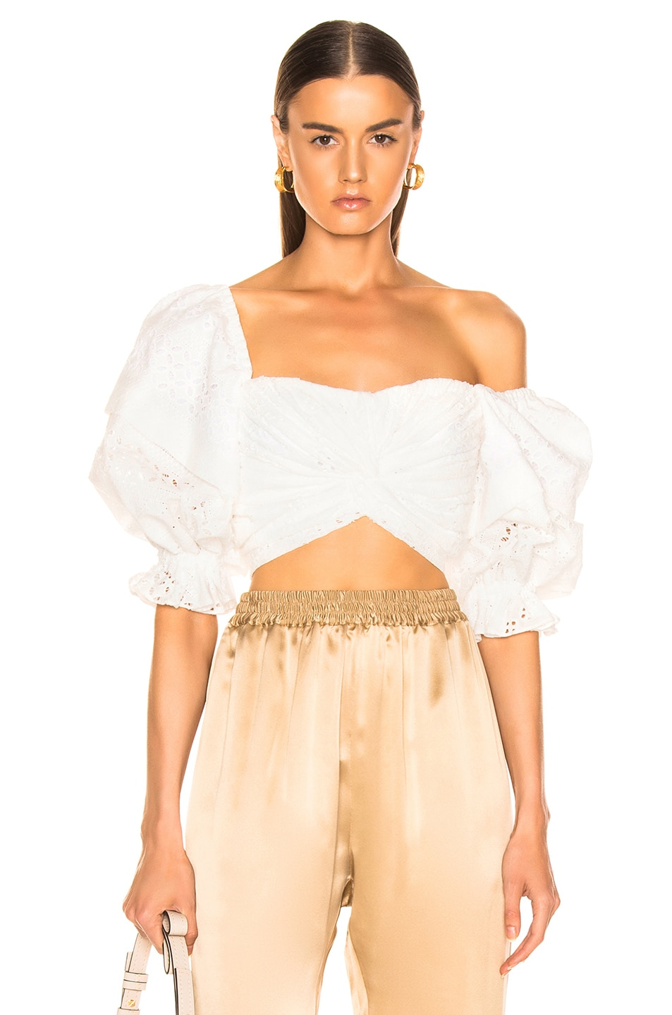 Image 1 of Marissa Webb Pascal Eyelet Top in White