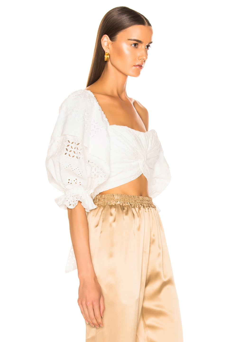 Image 2 of Marissa Webb Pascal Eyelet Top in White