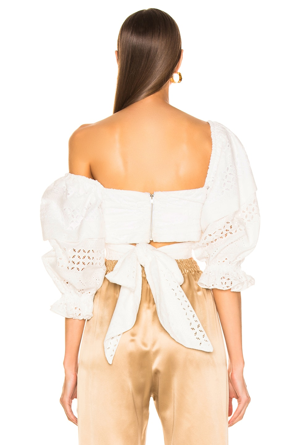Image 3 of Marissa Webb Pascal Eyelet Top in White