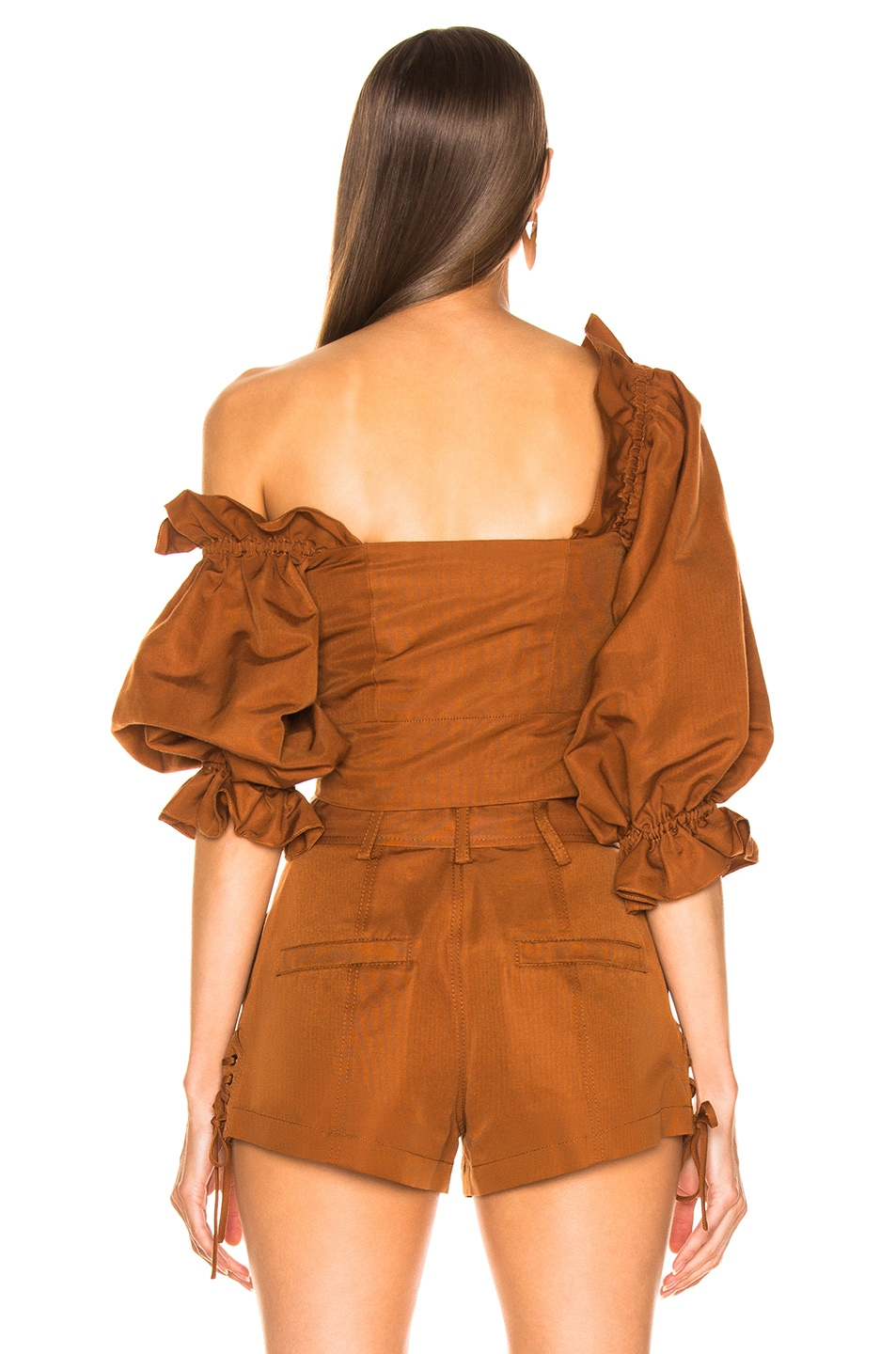 Image 4 of Marissa Webb Kai Faille Top in Copper Brown