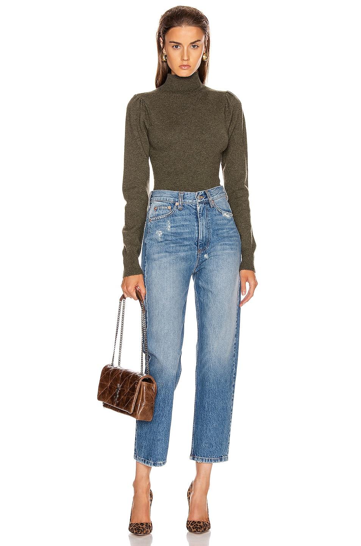 Image 5 of Marissa Webb Waverly Pullover Bodysuit in Olive