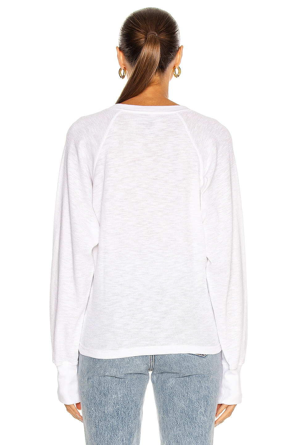 Image 3 of Marissa Webb So Uptight Thermal Henley in White