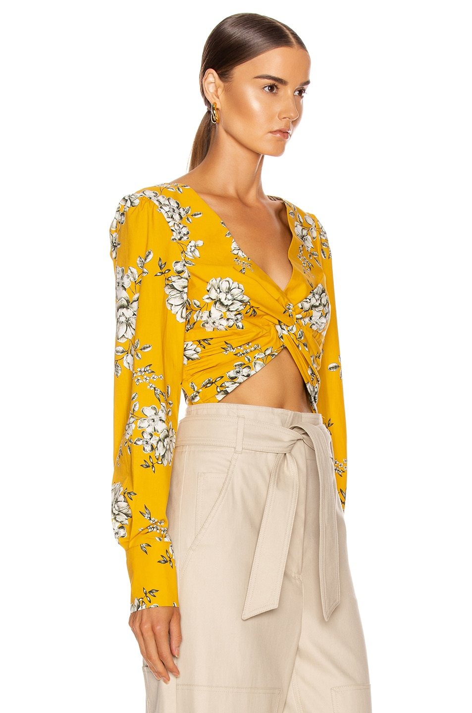 Image 2 of Marissa Webb Karlee Twist Top in Smithton Marigold