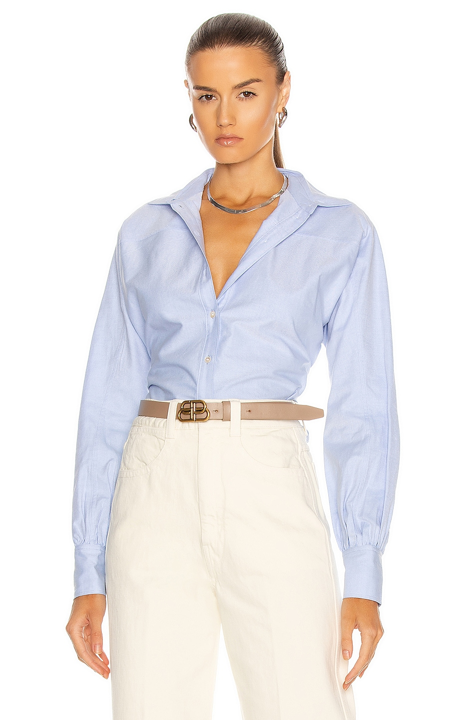 Image 1 of Marissa Webb Emmerson Oxford Shirt in French Blue