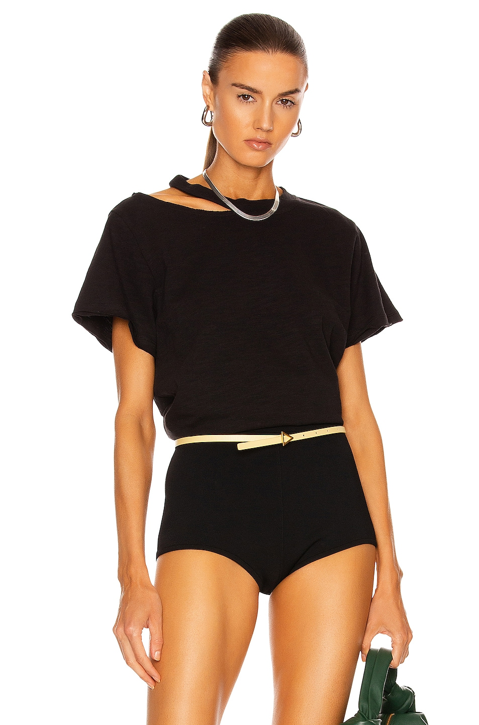 Image 1 of Marissa Webb Tate Cut Out Tee in Black