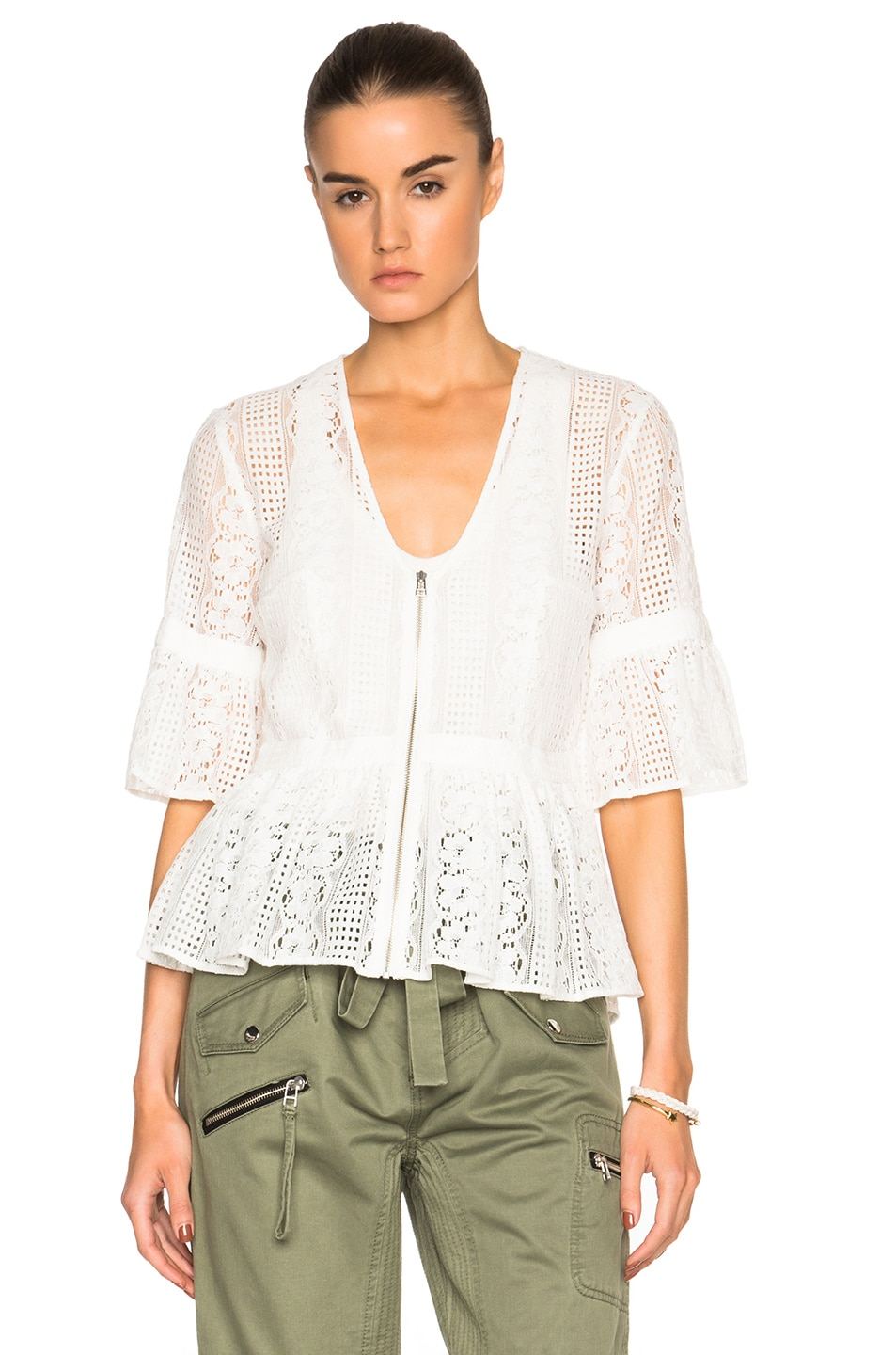 Image 1 of Marissa Webb Moritz Lace Top in White