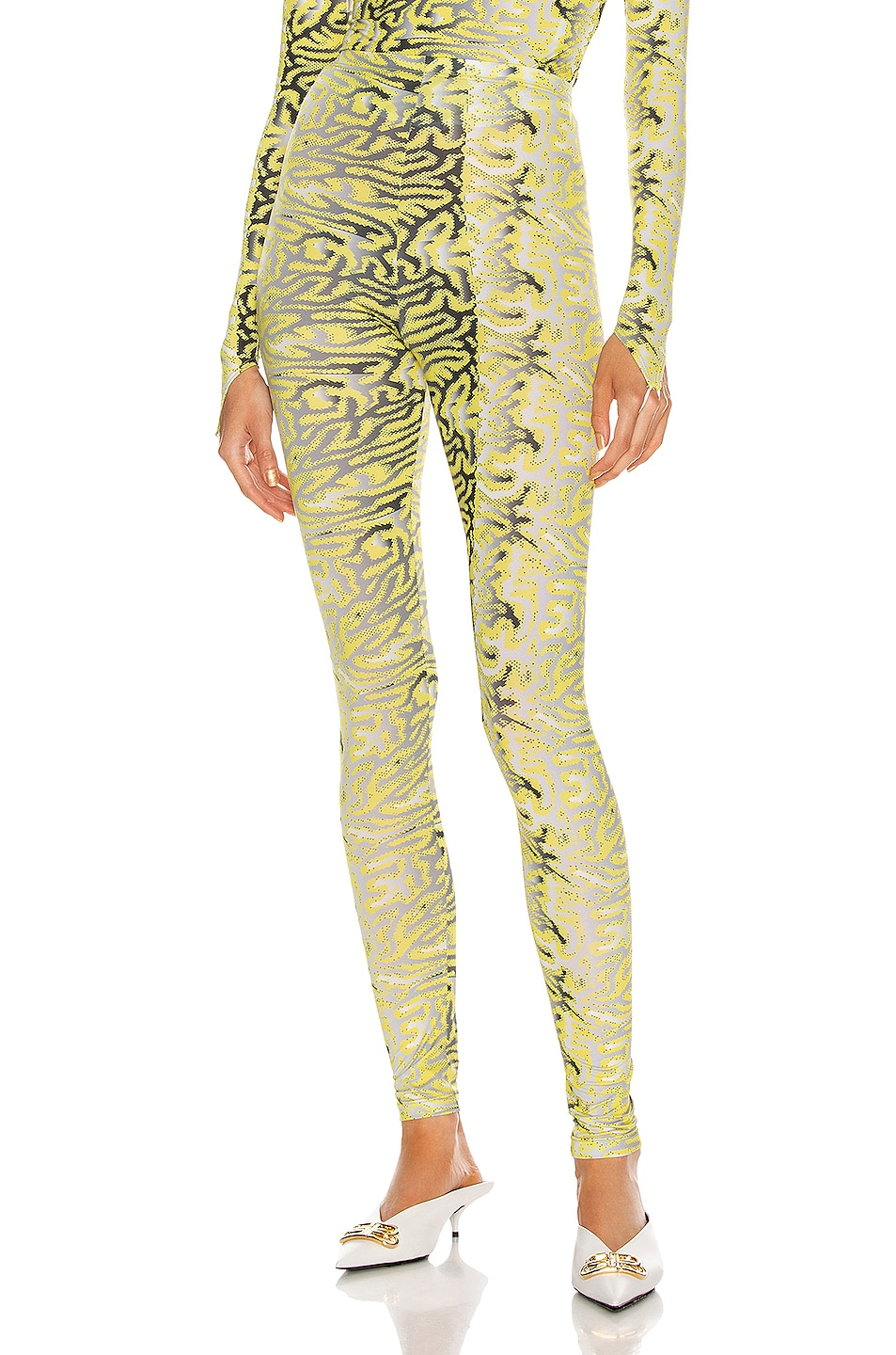 Image 1 of Maisie Wilen Body Shop Legging in Planet Brain Yellow
