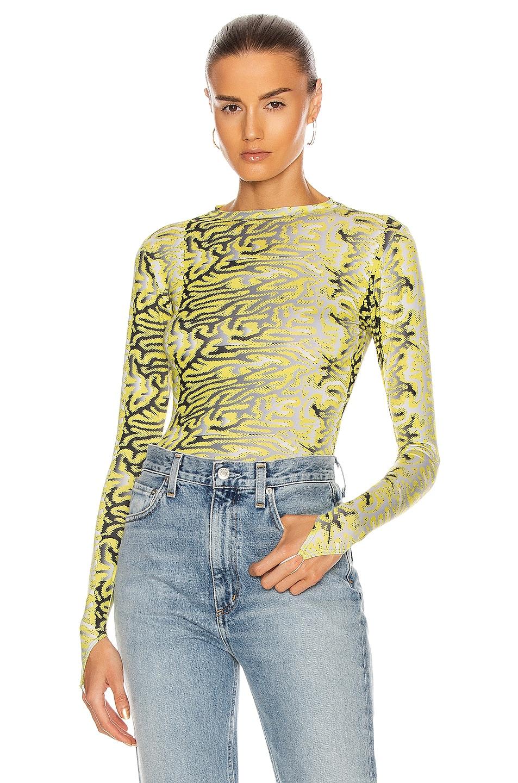 Image 1 of Maisie Wilen Body Shop Top in Brain Yellow