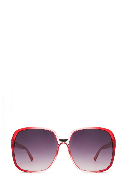 Image 1 of Matthew Williamson Gradient Sunglasses in Coral
