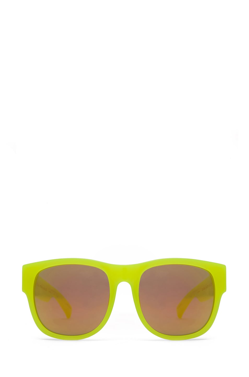 Image 1 of Matthew Williamson Sunglasses with Gold Mirror  in Neon Yellow