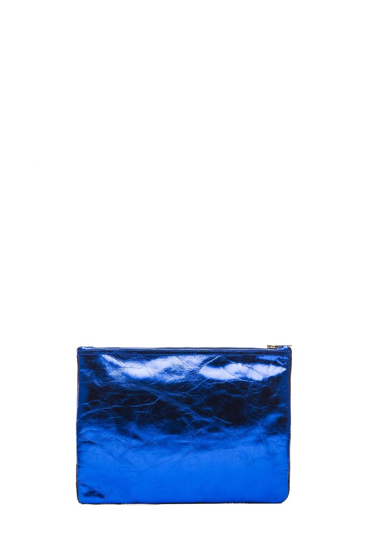 Image 2 of Matthew Williamson Threadwork Leather Clutch in Blue