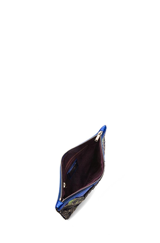 Image 4 of Matthew Williamson Threadwork Leather Clutch in Blue