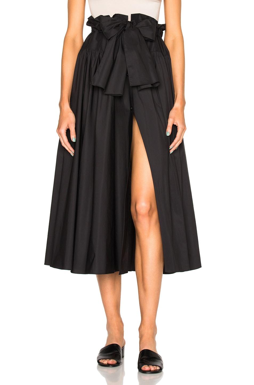 Image 1 of Maryam Nassir Zadeh Carlita Skirt in Black Poplin