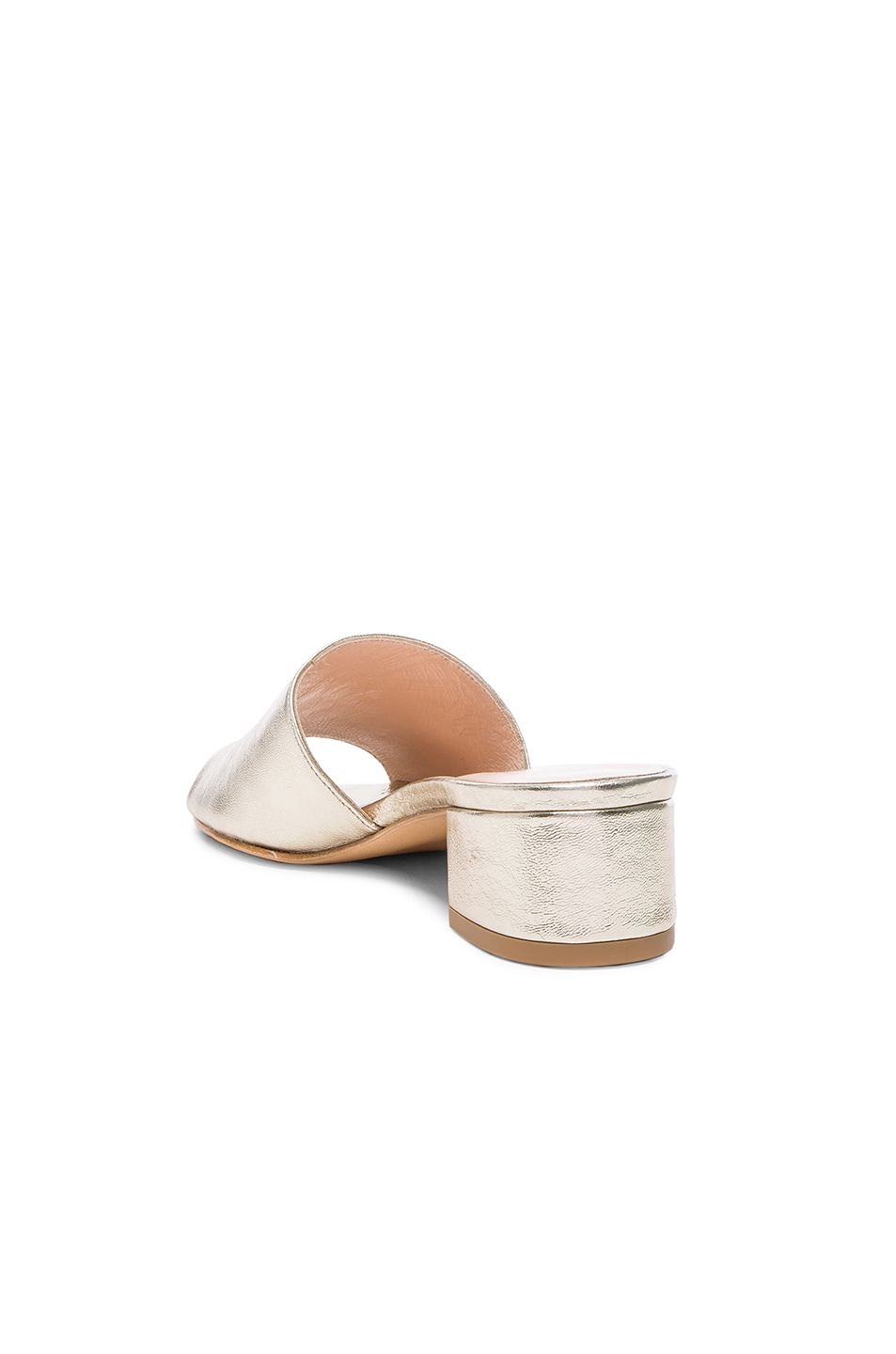 Image 3 of Maryam Nassir Zadeh Leather Sophie Slides in Prosecco Metallic