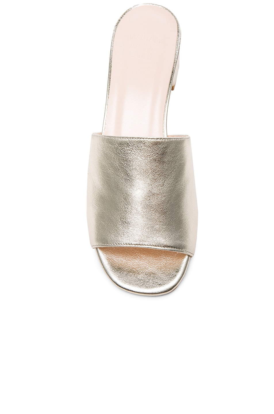 Image 4 of Maryam Nassir Zadeh Leather Sophie Slides in Prosecco Metallic
