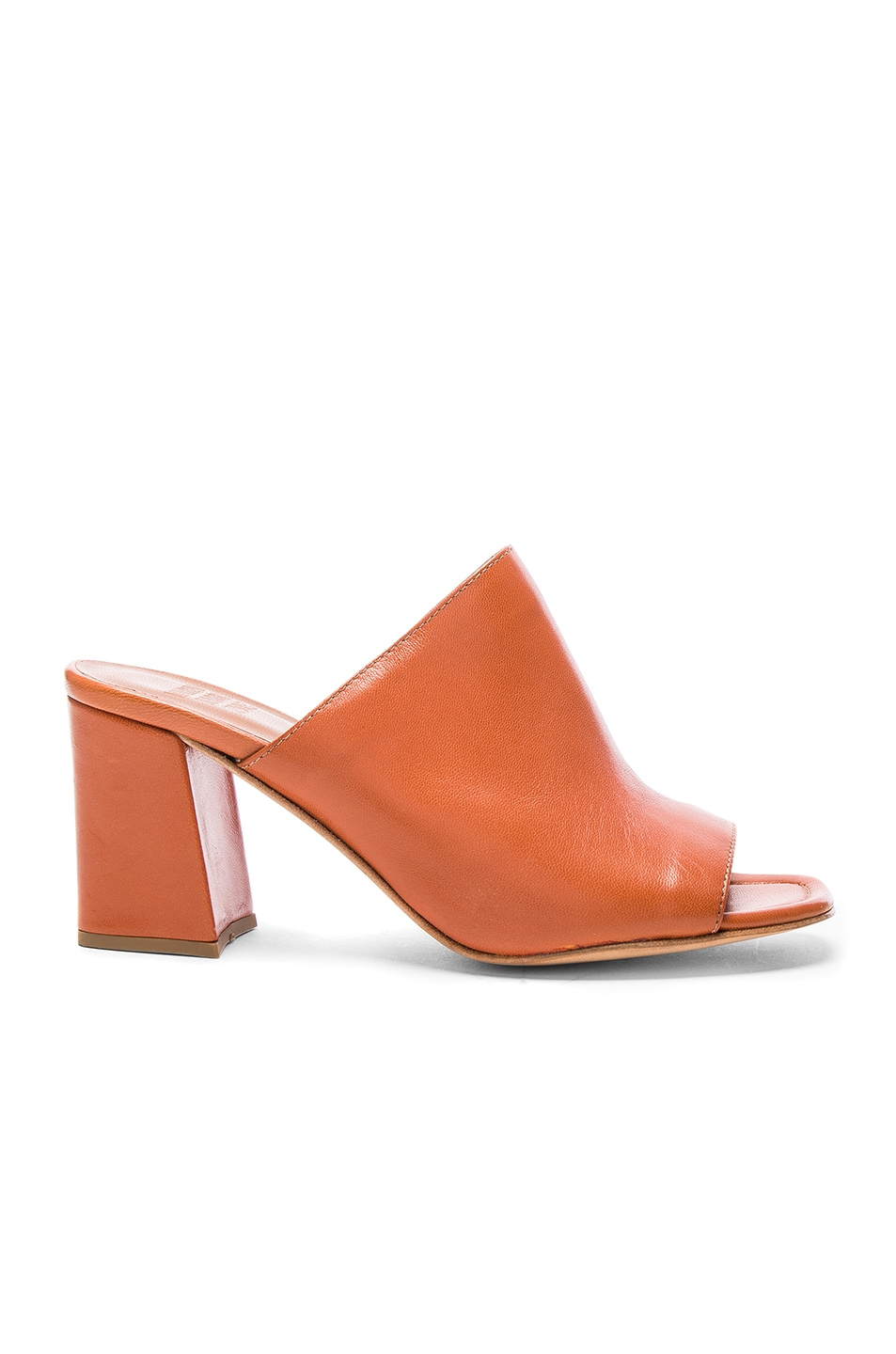 Image 1 of Maryam Nassir Zadeh Leather Penelope Mules in Whiskey