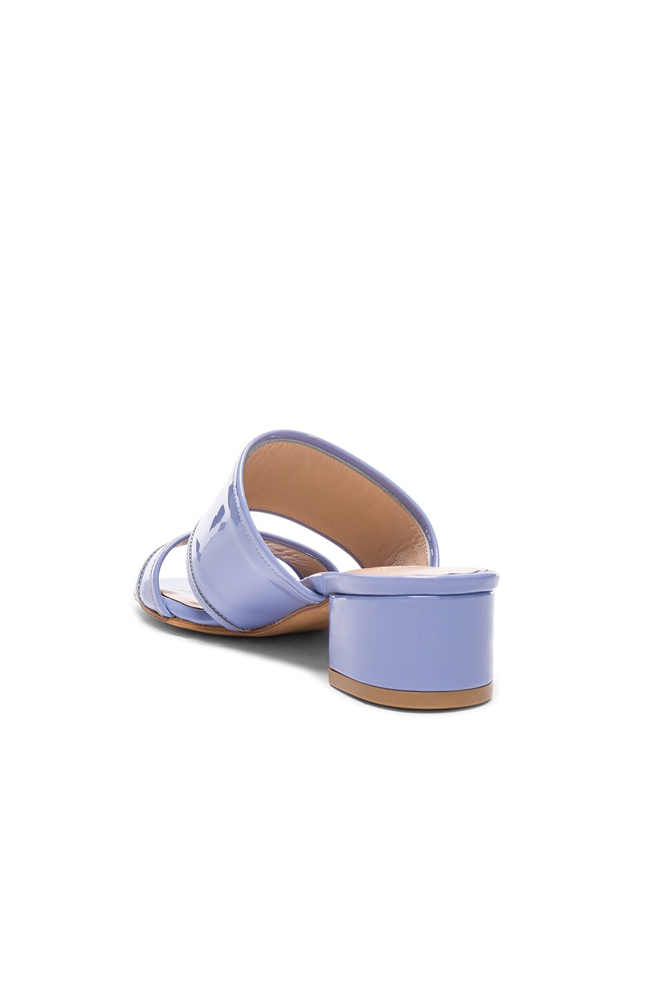 Image 3 of Maryam Nassir Zadeh Patent Leather Martina Slide Sandals in Periwinkle Patent