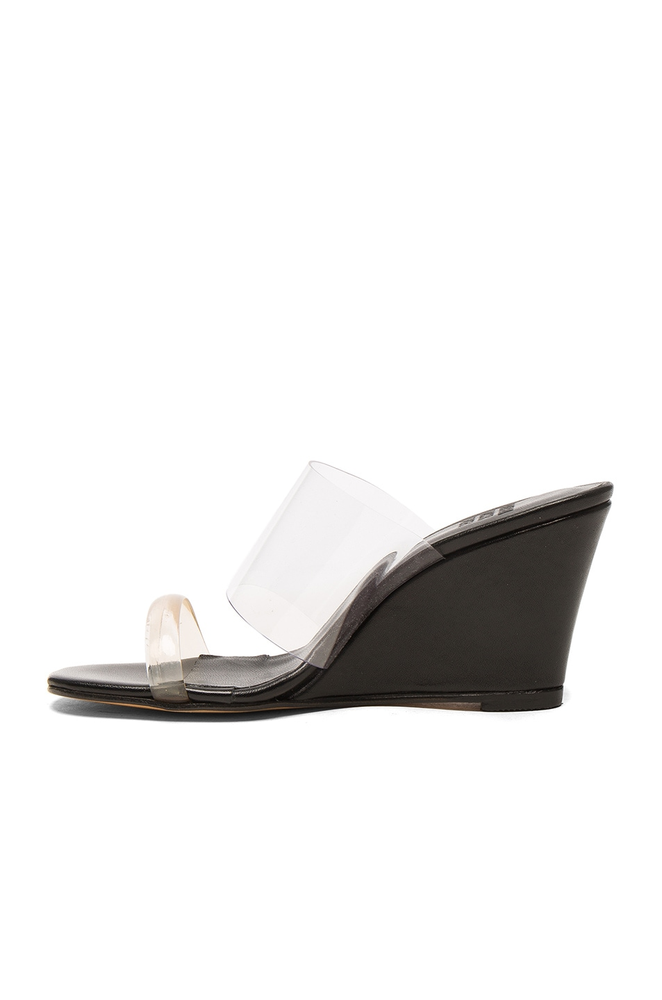 160f262a22 Image 5 of Maryam Nassir Zadeh PVC Olympia Wedges in Black