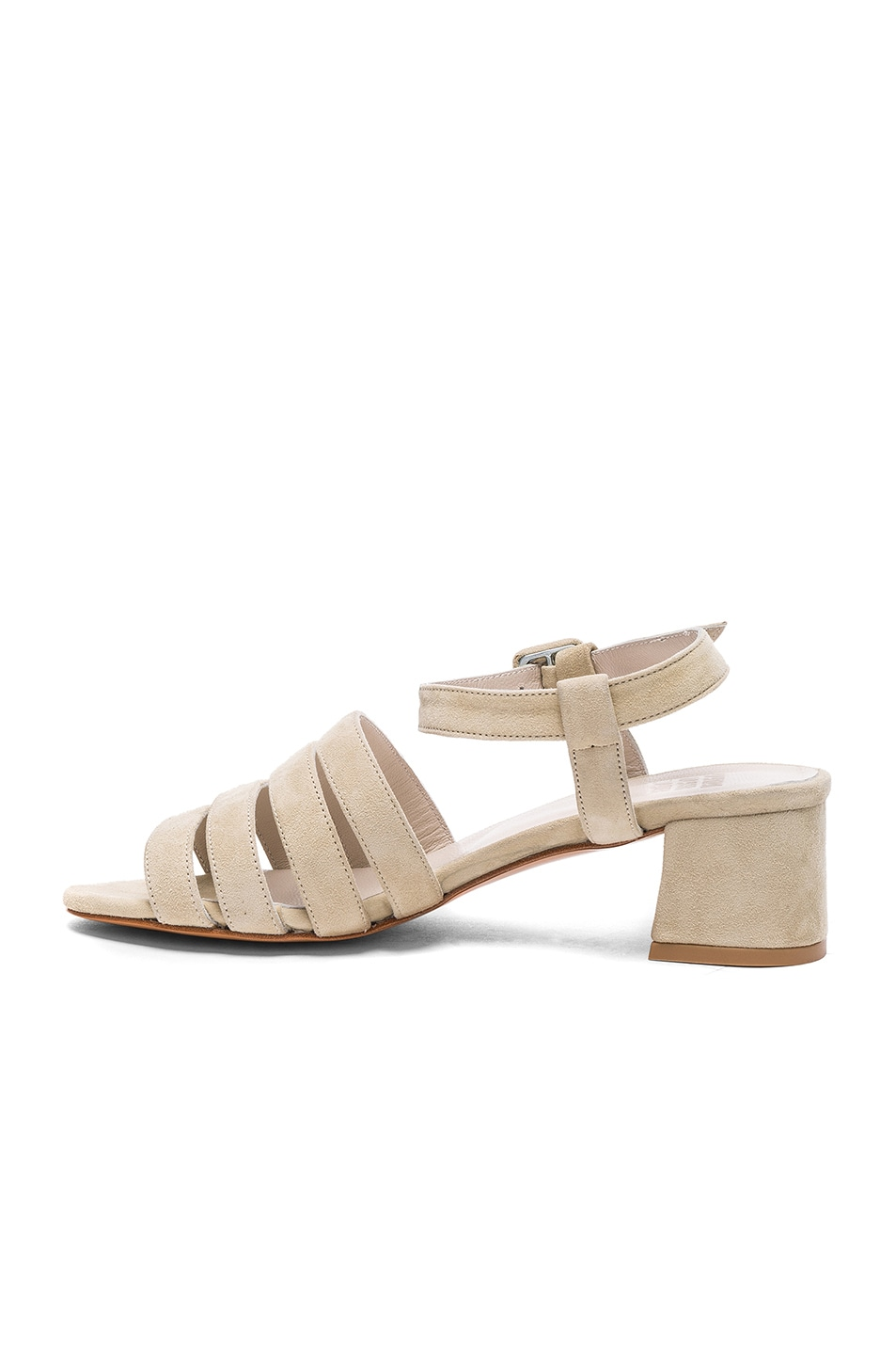 Image 5 of Maryam Nassir Zadeh Suede Palma Low Sandals in Chalk Suede