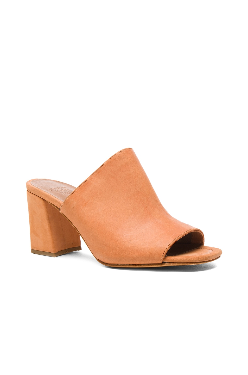 Image 2 of Maryam Nassir Zadeh Leather Penelope Mules in Natural Calf