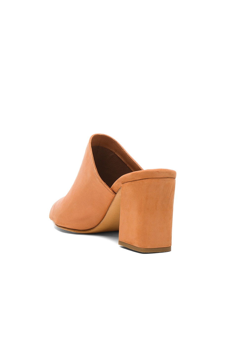 Image 3 of Maryam Nassir Zadeh Leather Penelope Mules in Natural Calf