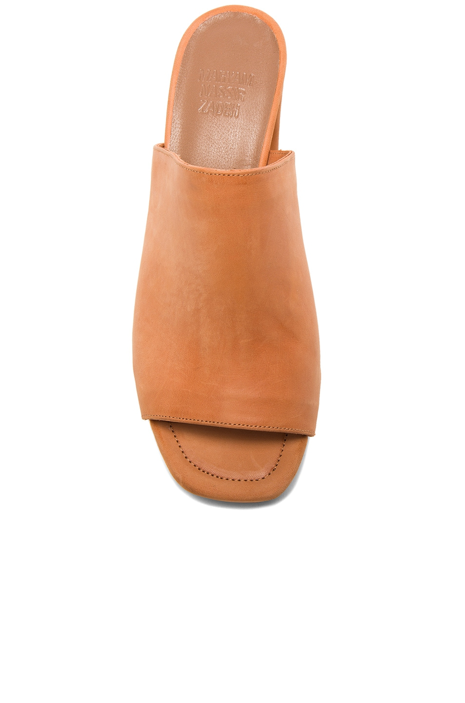 Image 4 of Maryam Nassir Zadeh Leather Penelope Mules in Natural Calf