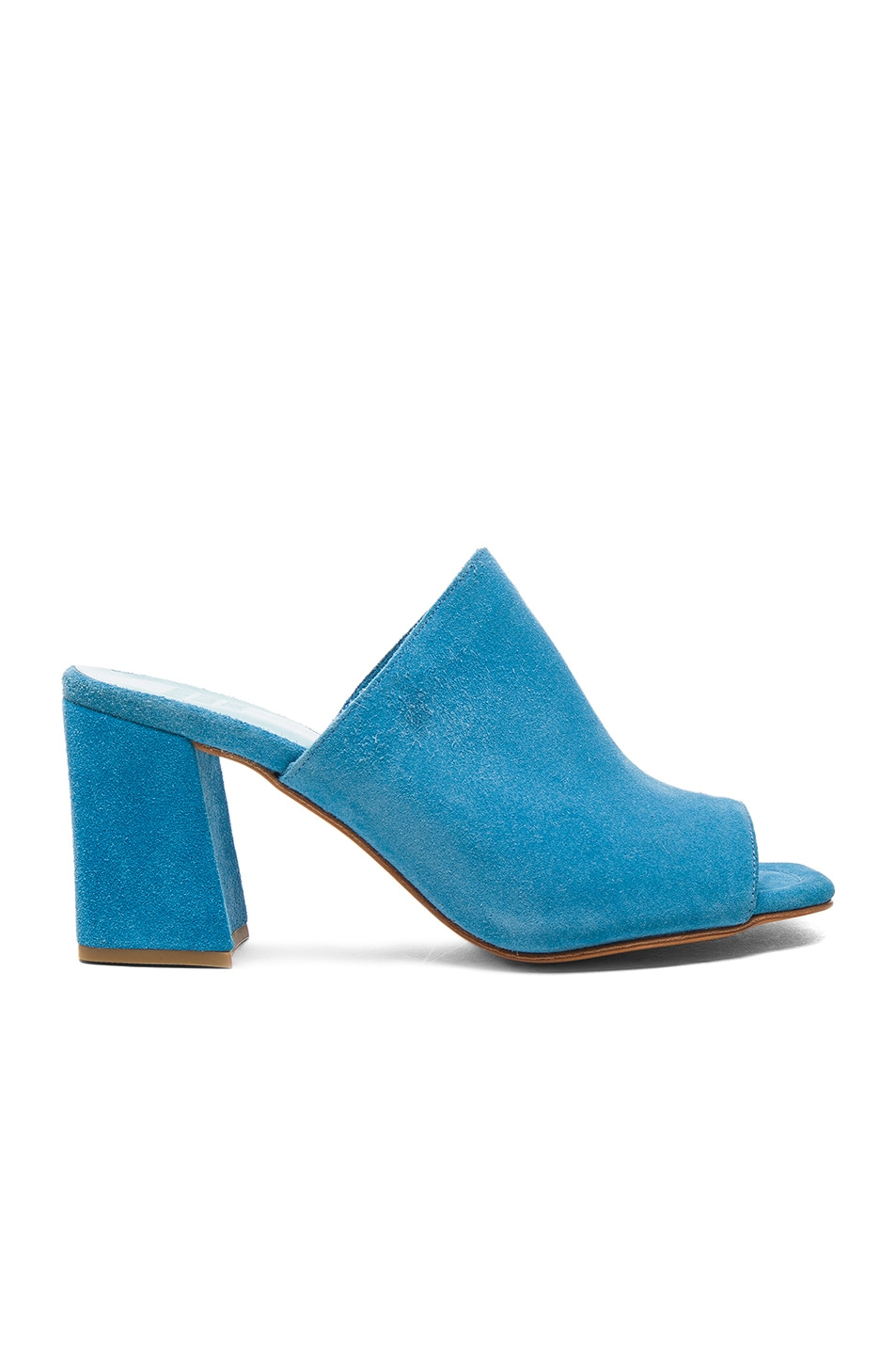 Image 1 of Maryam Nassir Zadeh Suede Penelope Mules in Turquoise Suede