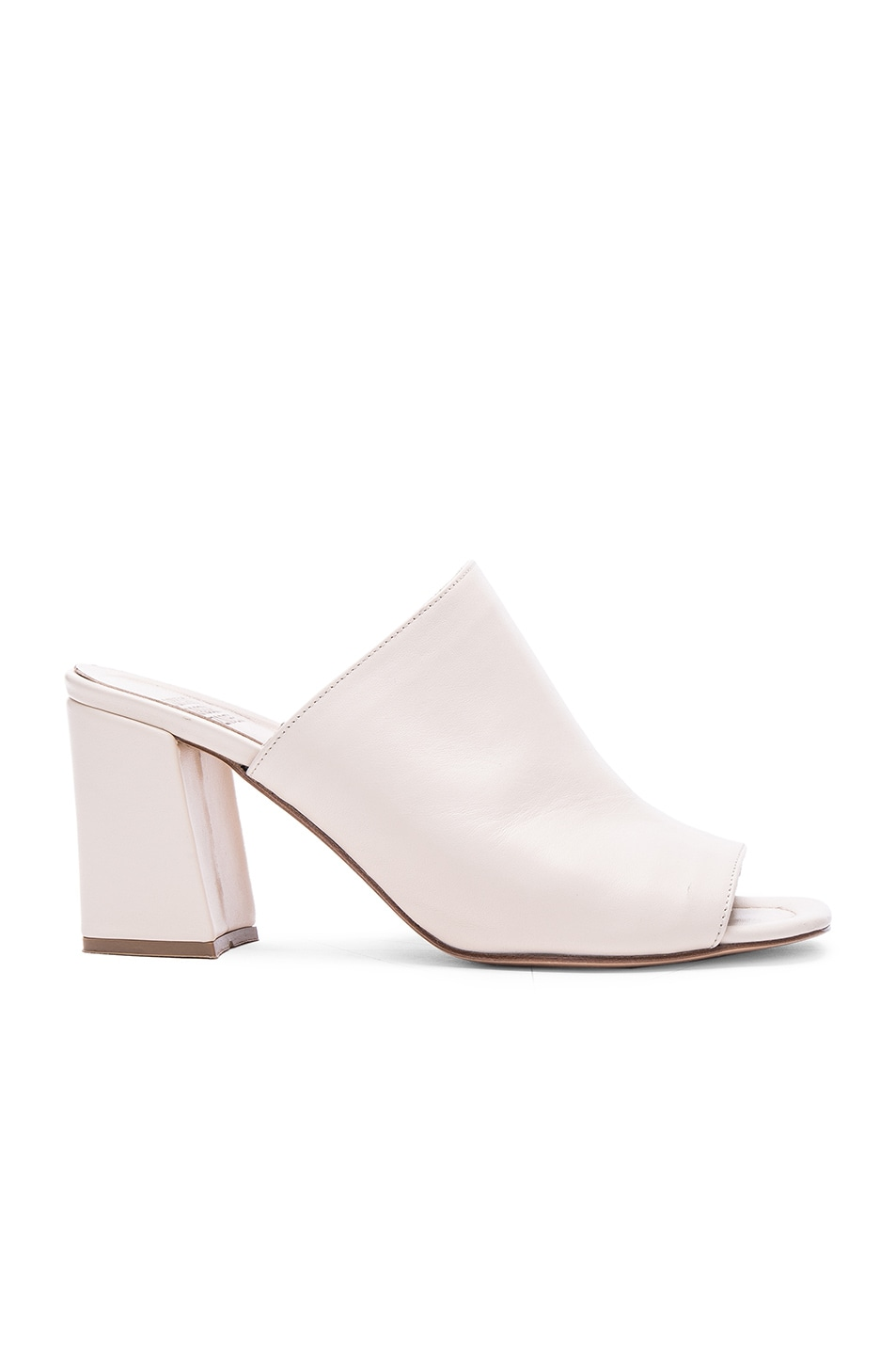 Image 1 of Maryam Nassir Zadeh Penelope Leather Mules in Cream Leather