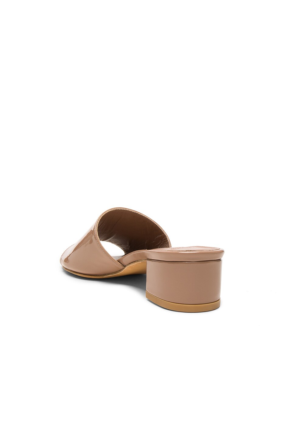 Image 3 of Maryam Nassir Zadeh Patent Leather Sophie Slide Heels in Taupe Patent