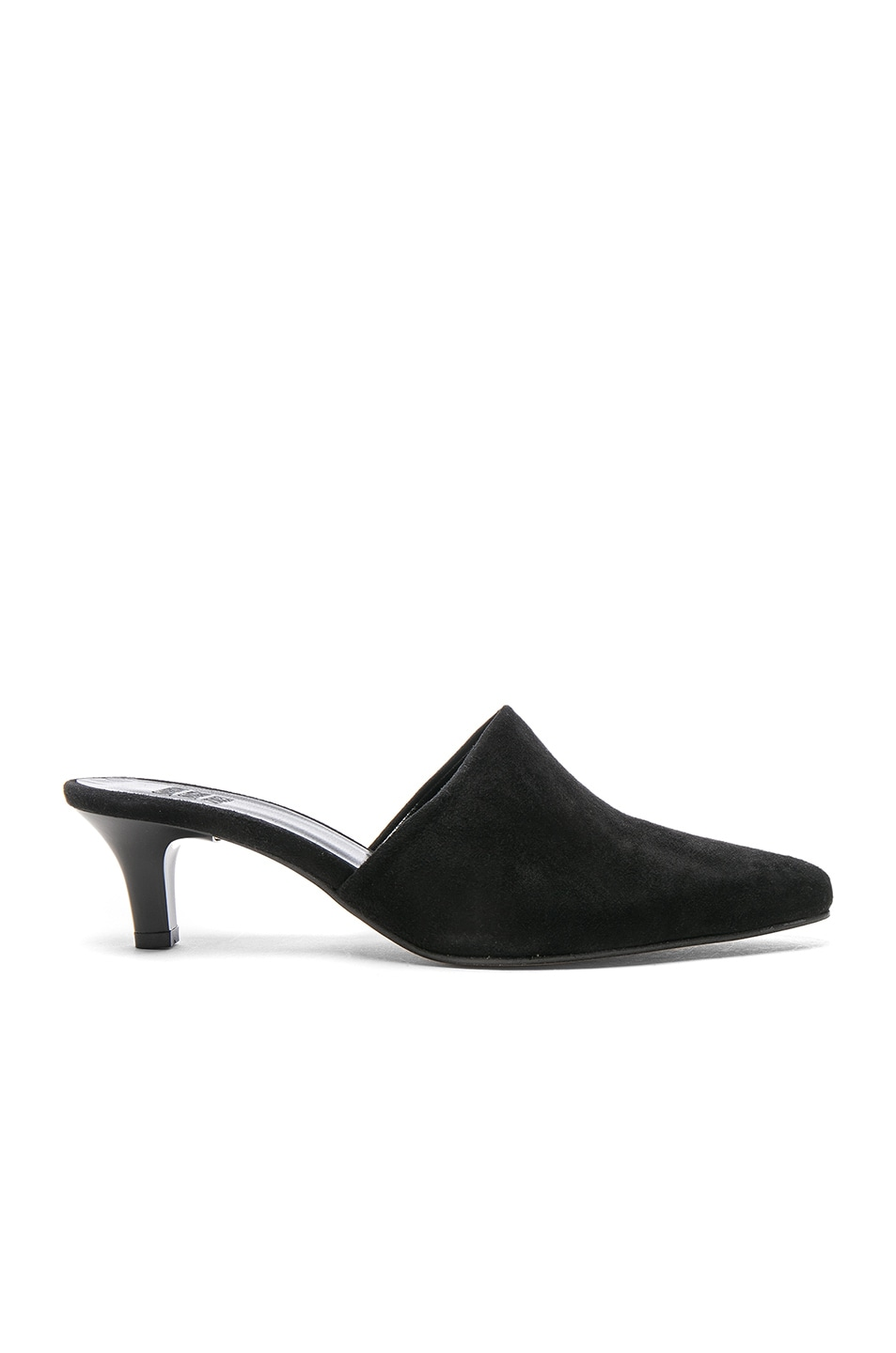 Image 1 of Maryam Nassir Zadeh Suede Andrea Mules in Black Suede