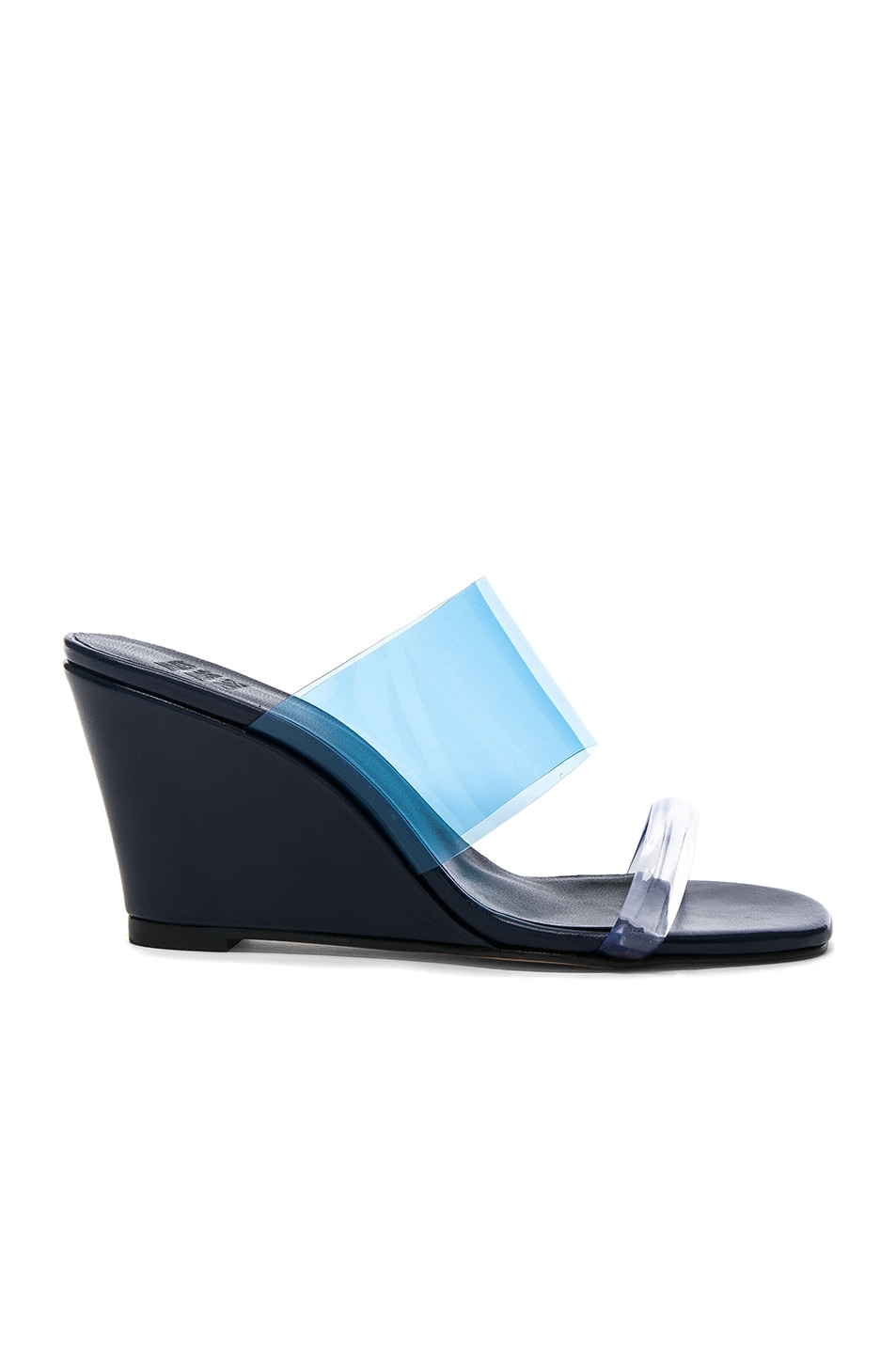 Image 1 of Maryam Nassir Zadeh PVC Olympia Wedges in Navy Calf & Blue Plastic