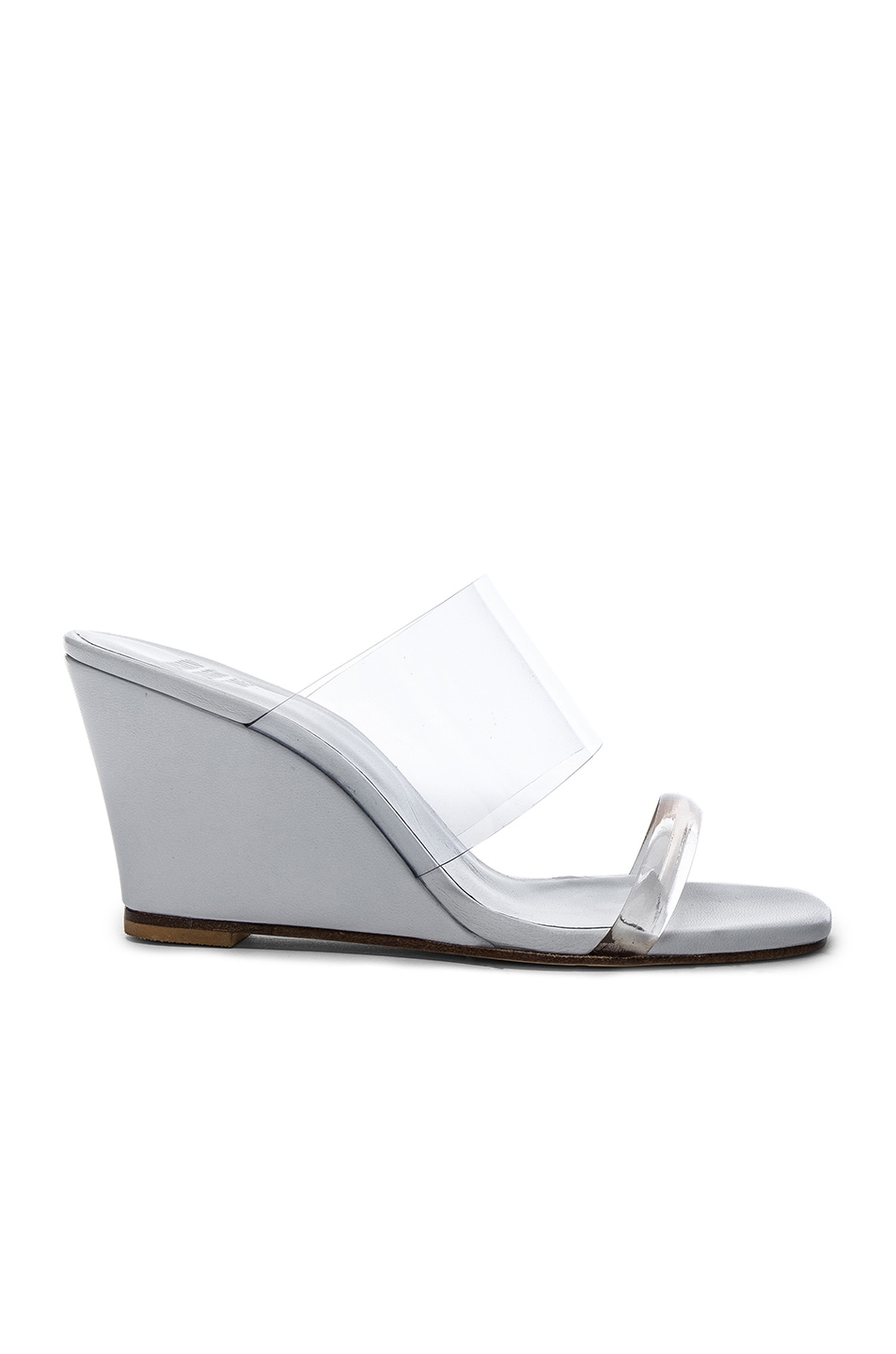 Image 1 of Maryam Nassir Zadeh PVC Olympia Wedges in White Calf & Clear Plastic