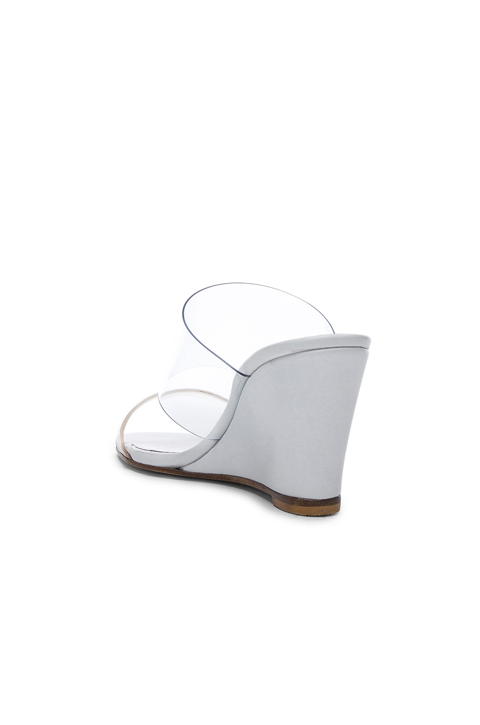 Image 3 of Maryam Nassir Zadeh PVC Olympia Wedges in White Calf & Clear Plastic