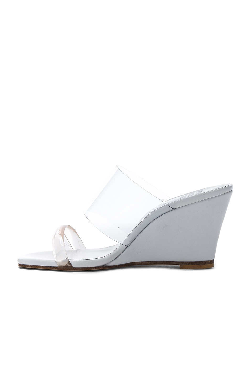 Image 5 of Maryam Nassir Zadeh PVC Olympia Wedges in White Calf & Clear Plastic