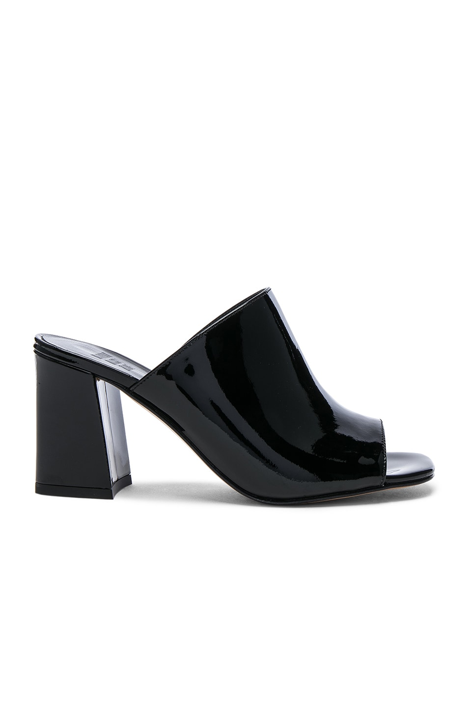Image 1 of Maryam Nassir Zadeh Patent Leather Penelope Mules in Black Patent