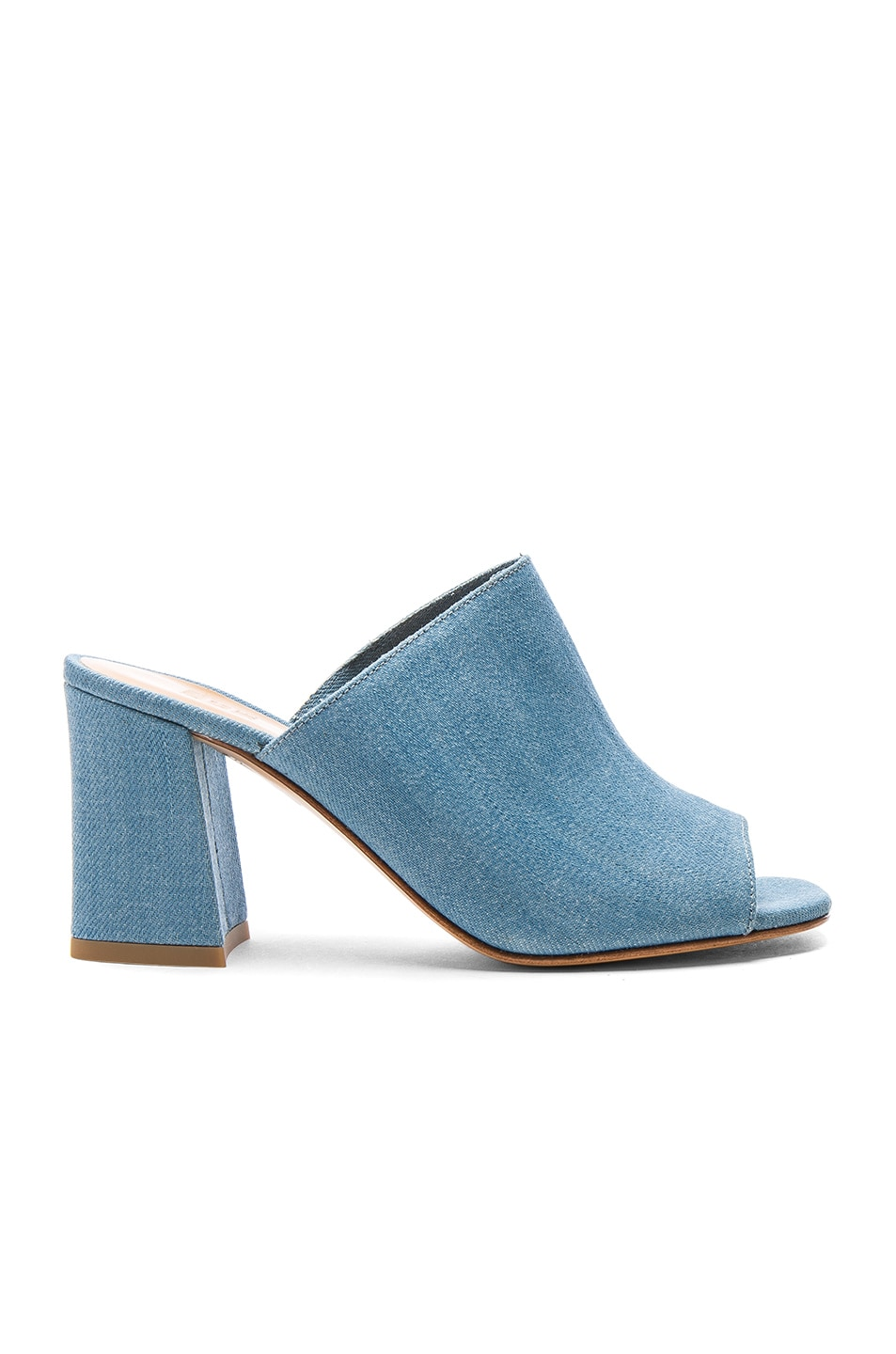 Image 1 of Maryam Nassir Zadeh Denim Penelope Mules in Light Denim