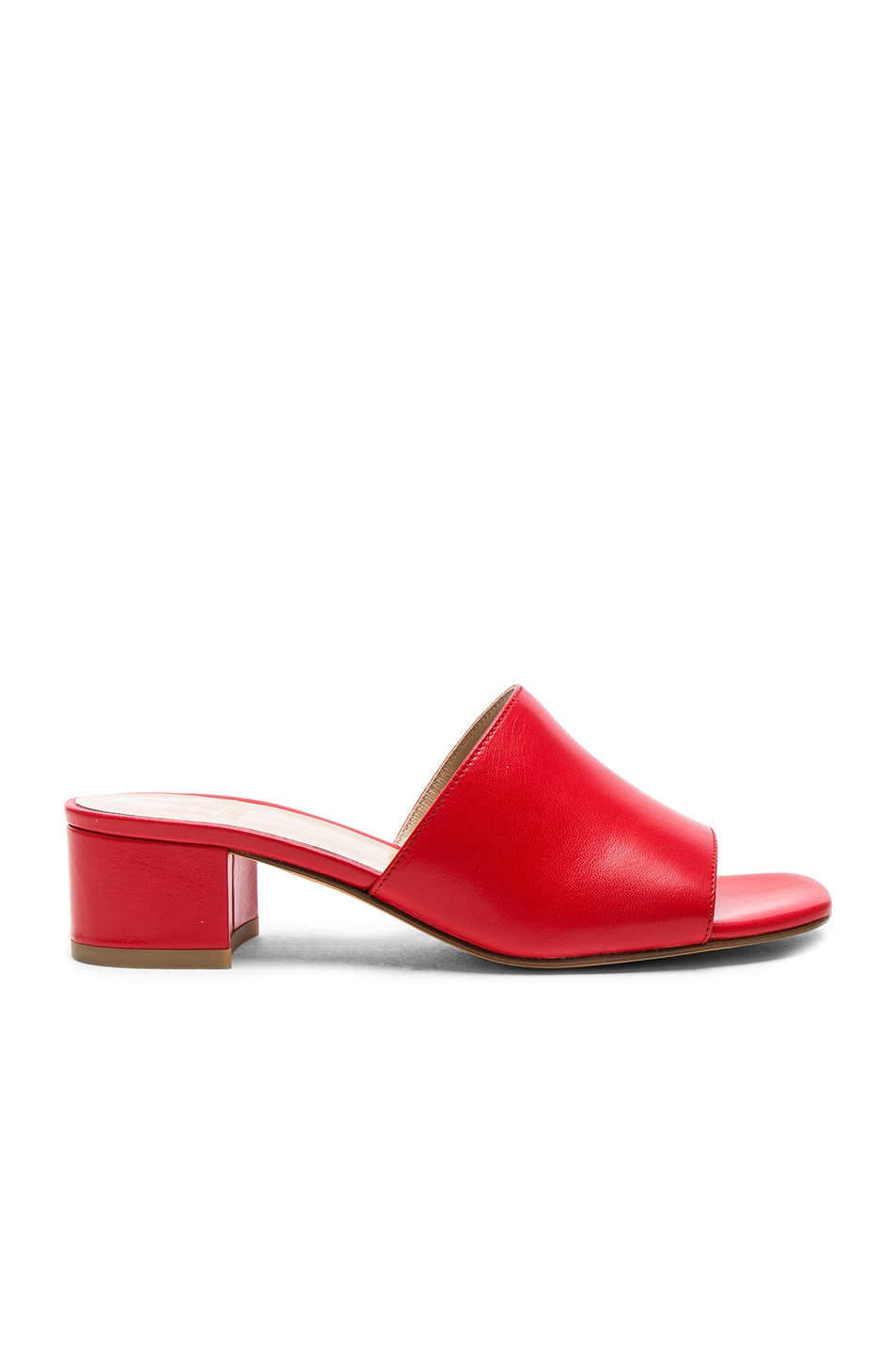 Image 1 of Maryam Nassir Zadeh Leather Sophie Slides in Red Calf