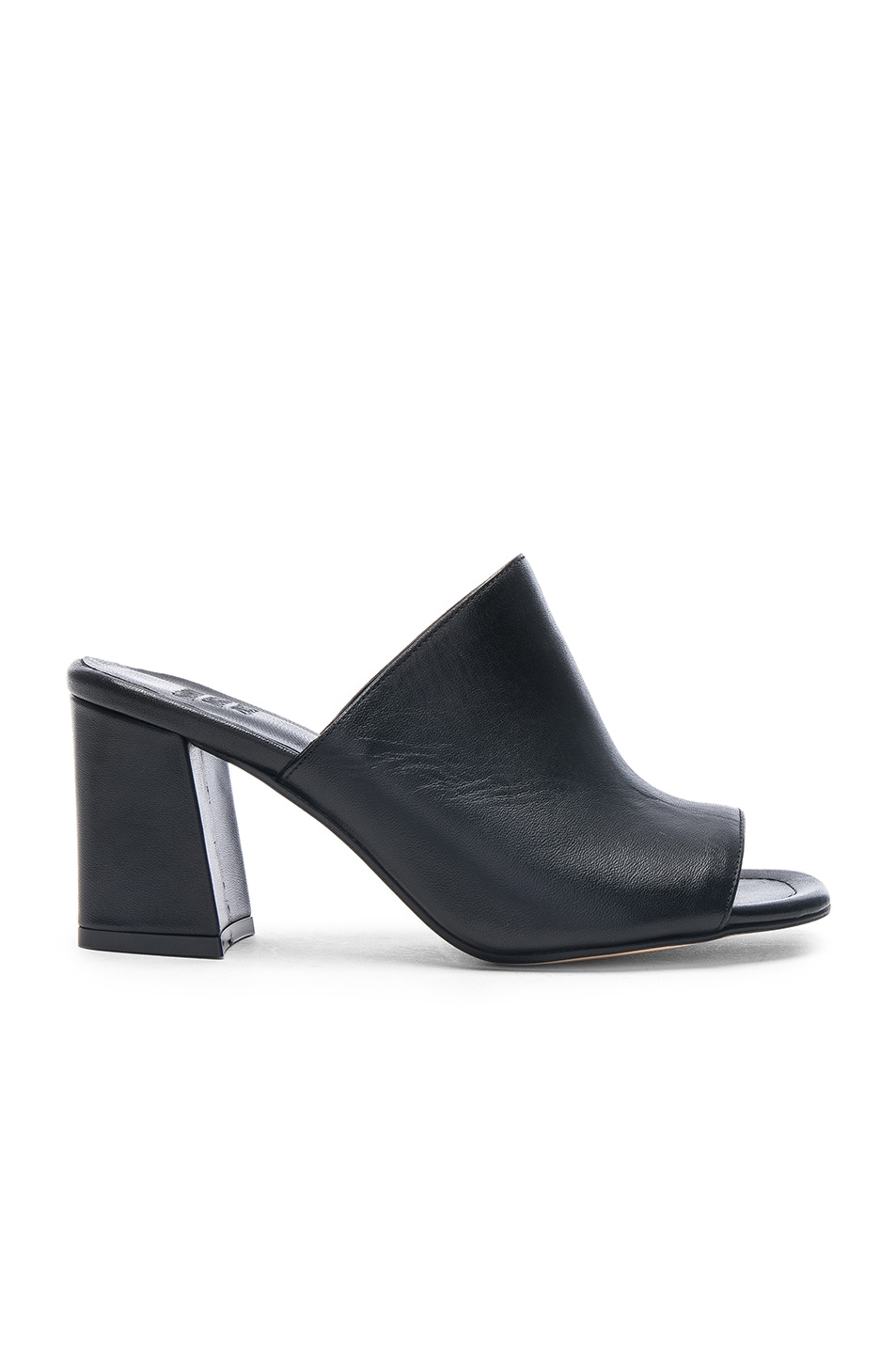 Image 1 of Maryam Nassir Zadeh Leather Penelope Mules in Black Calf