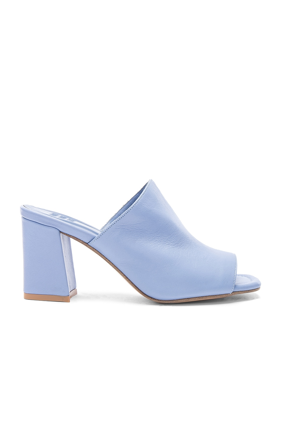 Image 1 of Maryam Nassir Zadeh Leather Penelope Mules in Periwinkle Calf