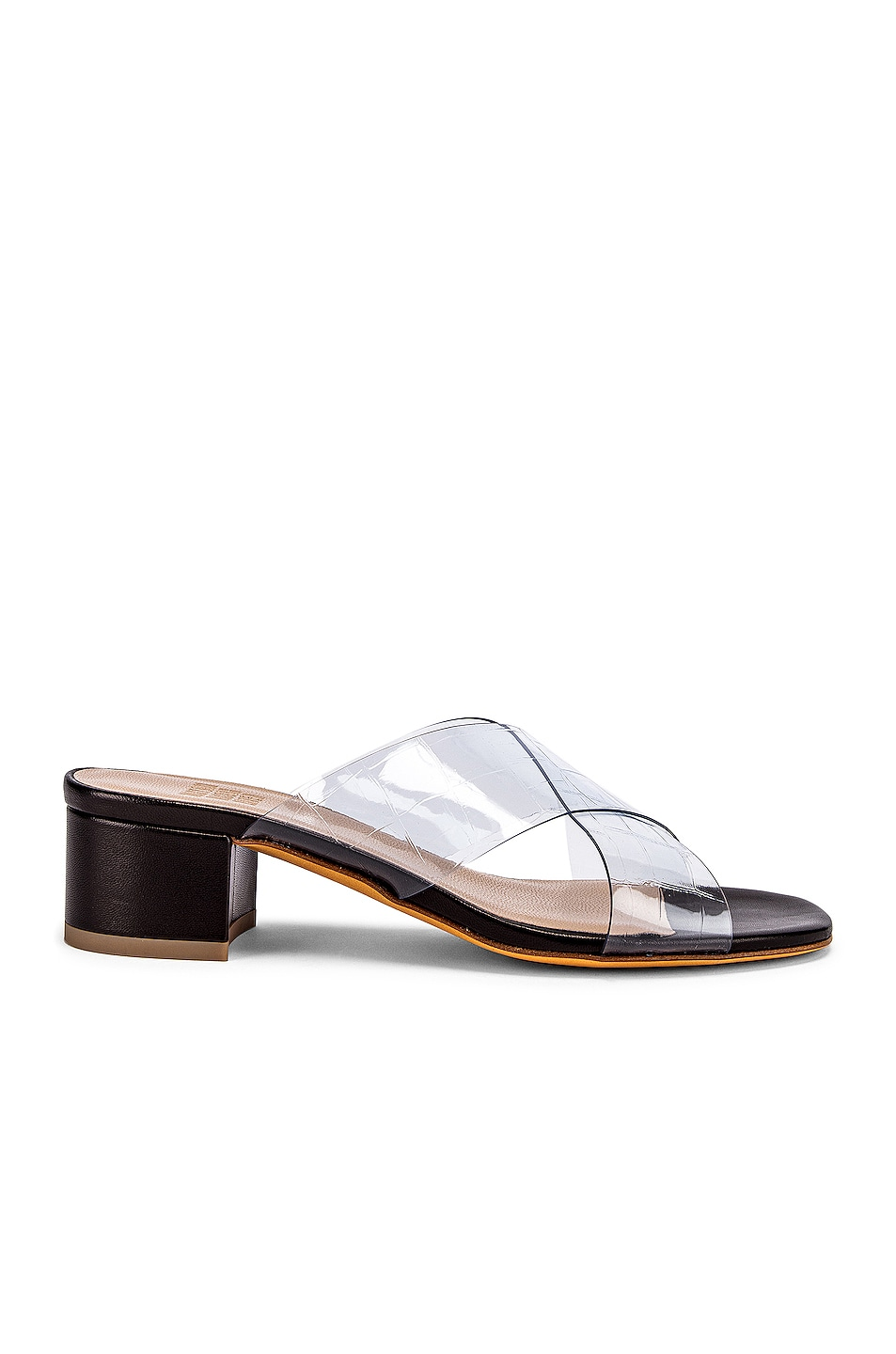 Image 1 of Maryam Nassir Zadeh Lauren Slide in Black & Clear
