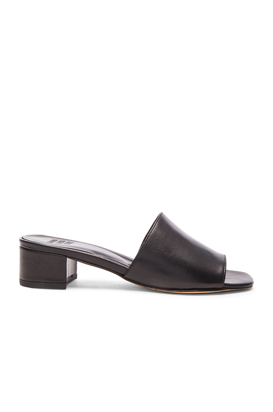 Image 1 of Maryam Nassir Zadeh Sophie Slide in Black Leather