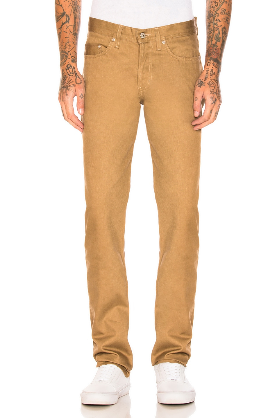 Image 1 of Naked & Famous Denim Weird Guy Selvedge Chino in Tan