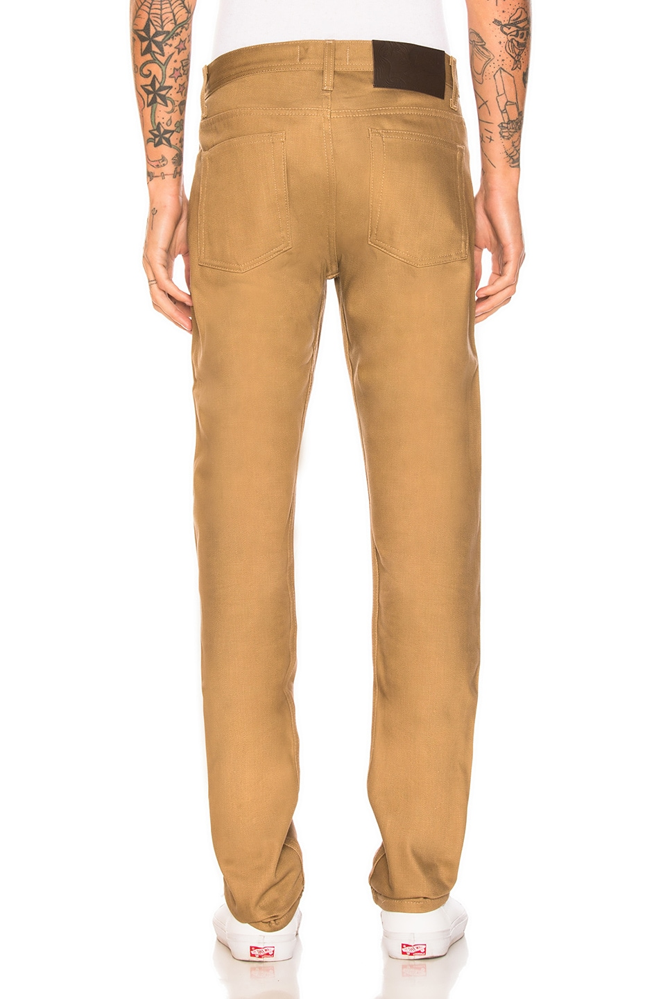 Image 3 of Naked & Famous Denim Weird Guy Selvedge Chino in Tan