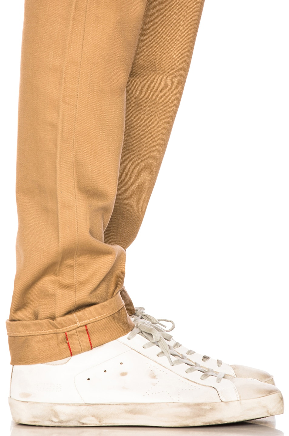 Image 5 of Naked & Famous Denim Weird Guy Selvedge Chino in Tan
