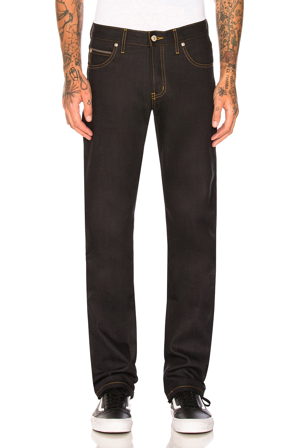 Naked And Famous Naked & Famous Denim Super Skinny Guy 11.5oz Deep Indigo Stretch Selvedge. In Blue