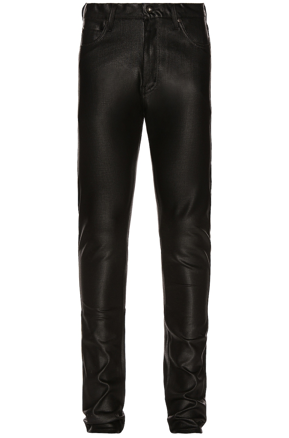 Image 1 of Naked & Famous Denim Stacked Guy 12oz Black Waxed Stretch in Black