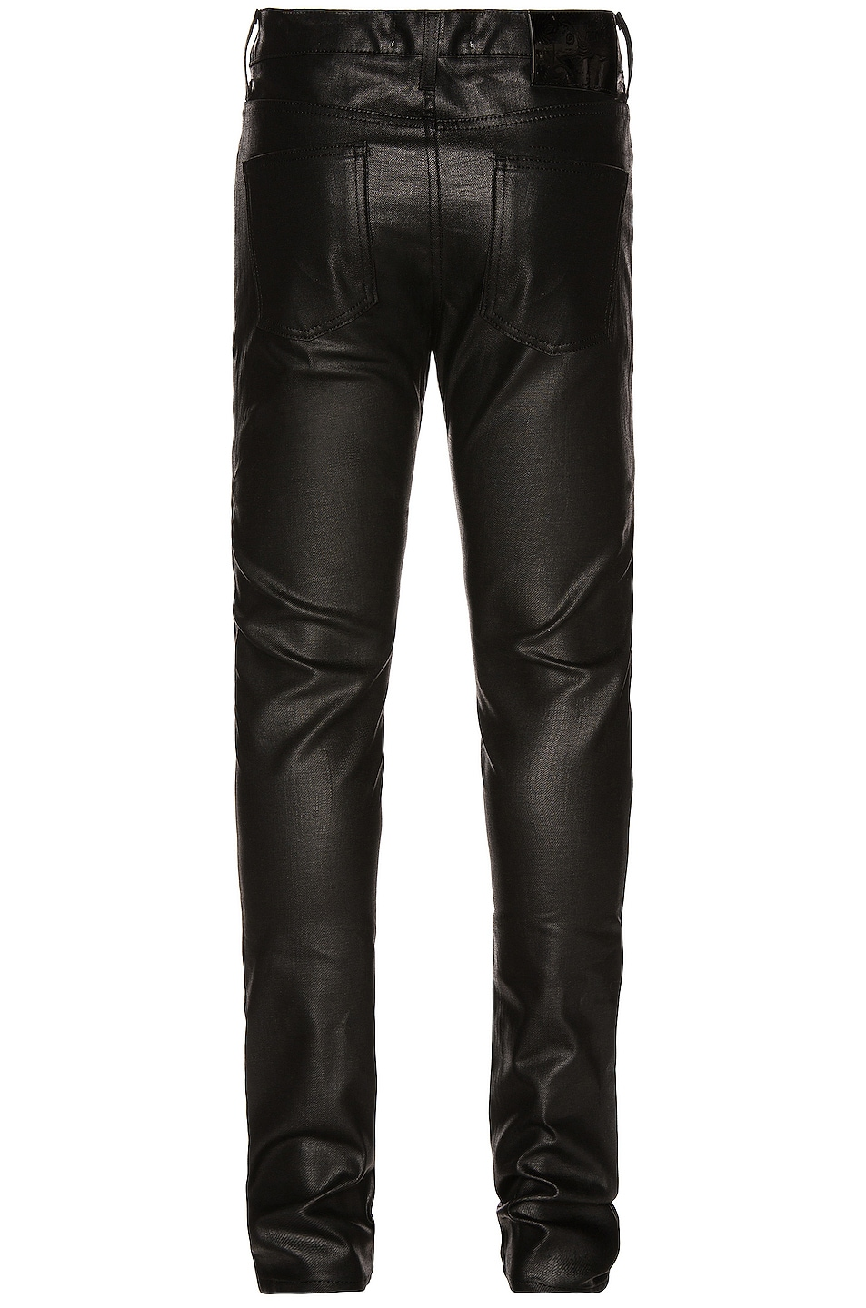 Image 2 of Naked & Famous Denim Stacked Guy 12oz Black Waxed Stretch in Black