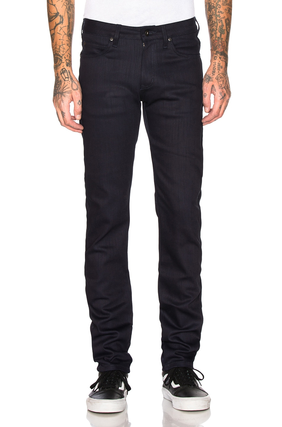 Naked And Famous Jeans NAKED & FAMOUS DENIM SUPER GUY STRETCH JEANS IN MIDNIGHT POWER