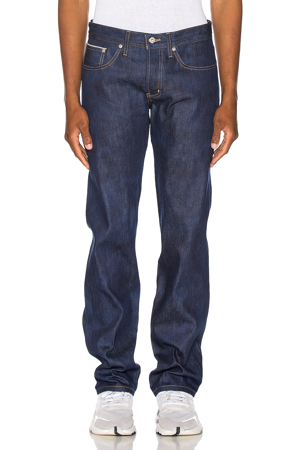 Image 1 of Naked & Famous Denim Weird Guy Jeans in Kasuri Stretch Selvedge