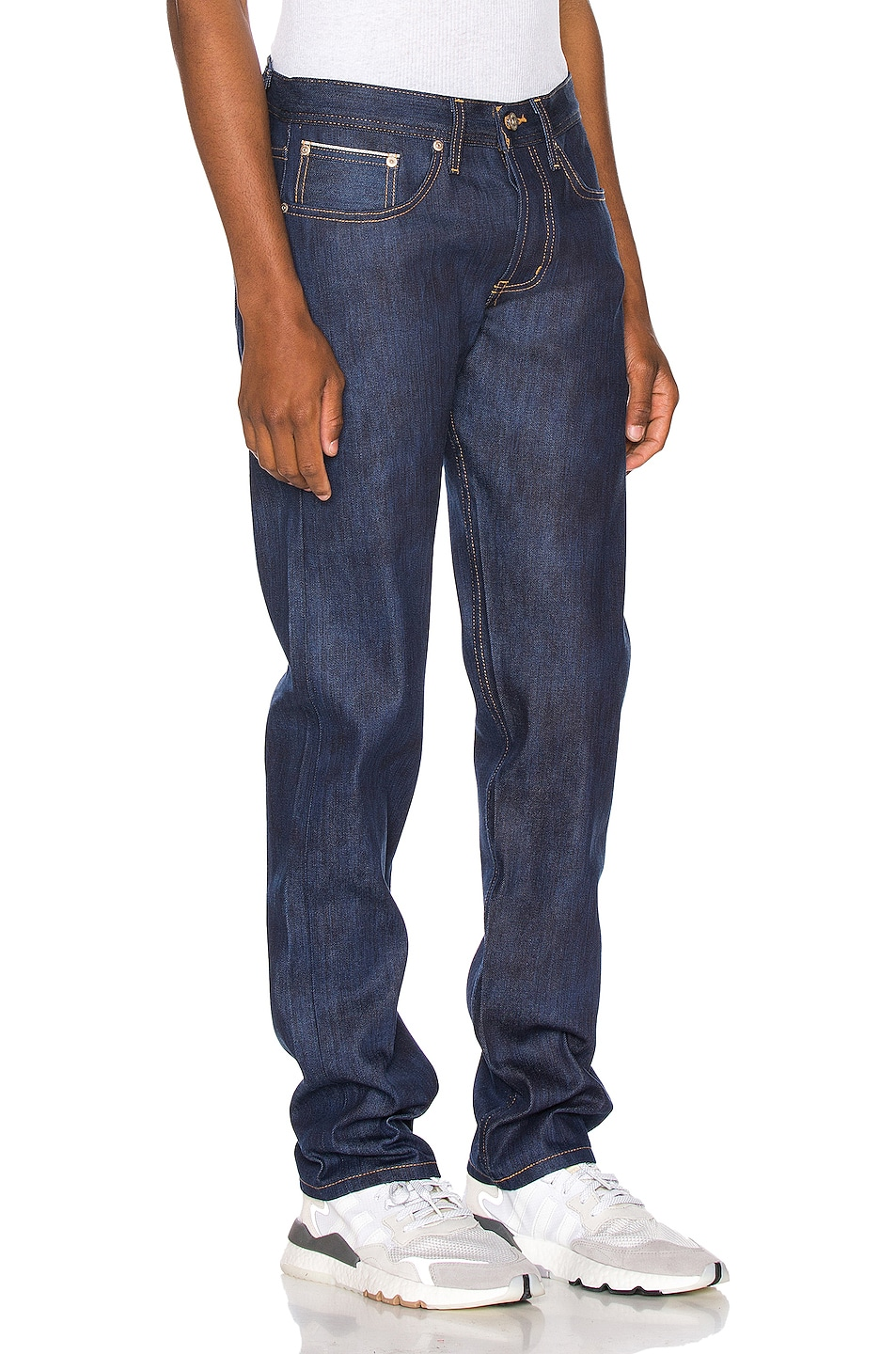Image 2 of Naked & Famous Denim Weird Guy Jeans in Kasuri Stretch Selvedge